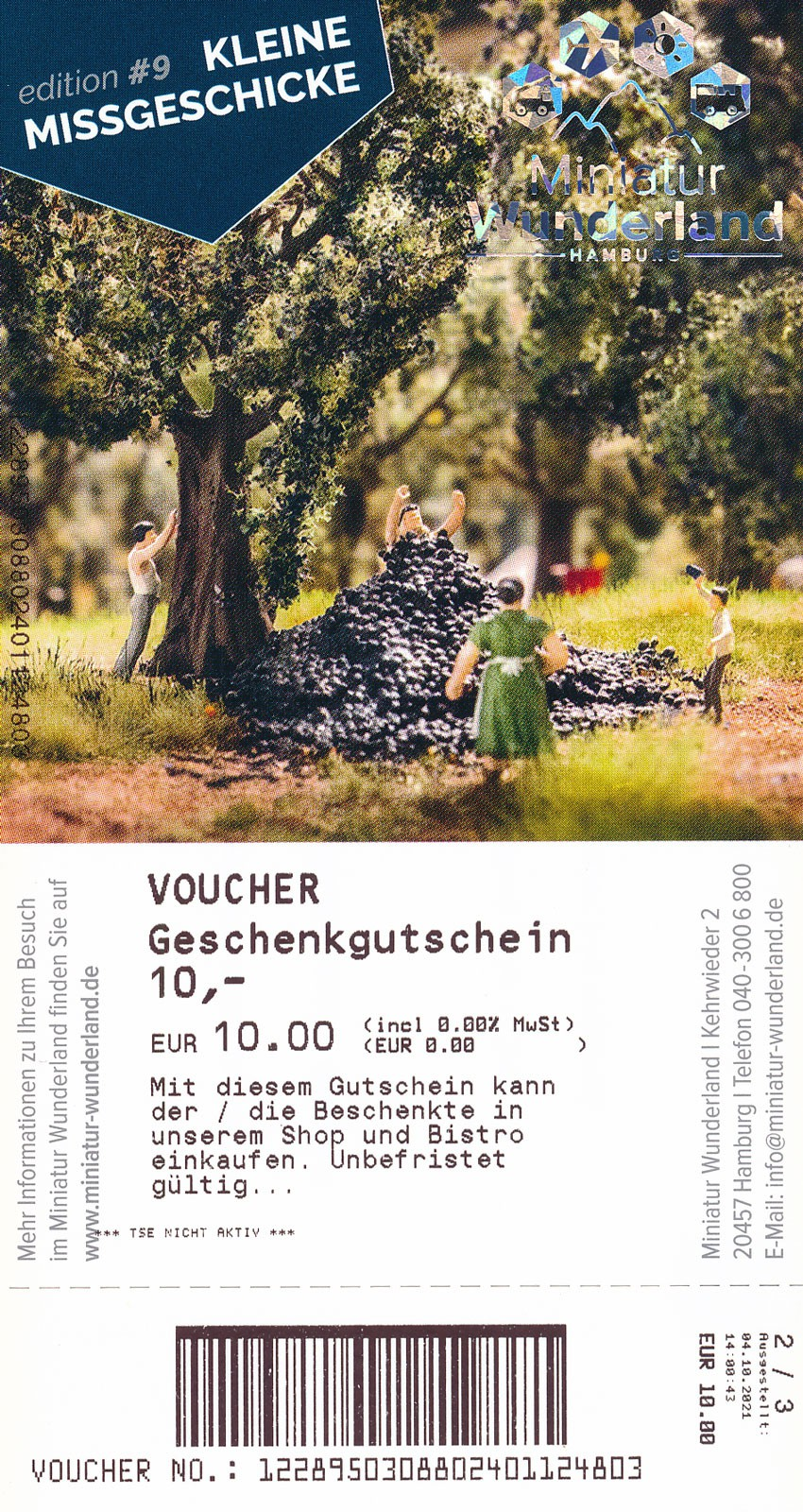 10 € Gift Voucher for Shop or Bistro