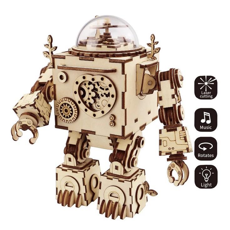 Music-Box Roboter 3D Puzzle Wood - Robotime ROKR AM601