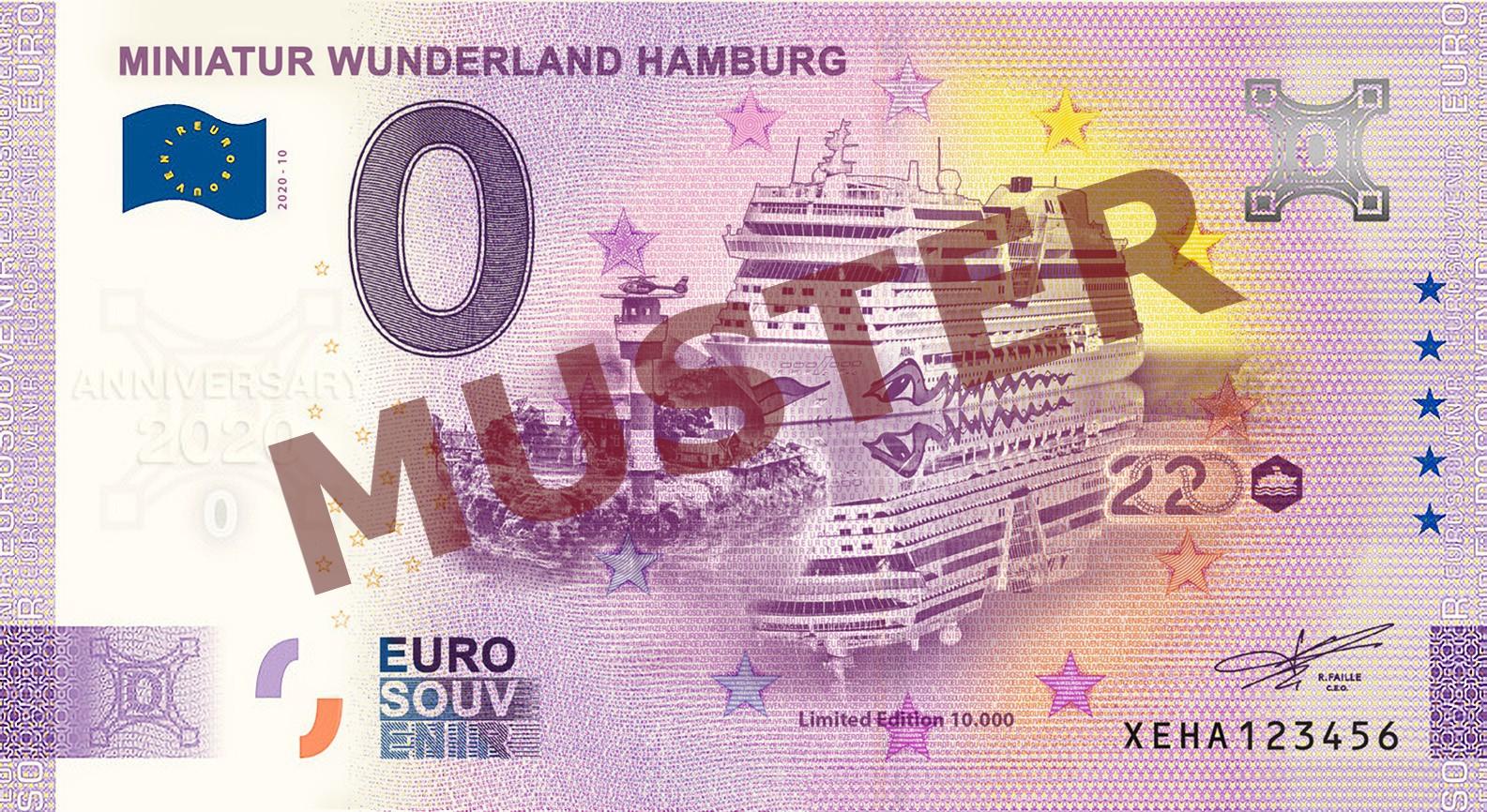 "Euro-Souvenir-Banknote Motif ""NordOstsee"" (2020-10.2) Anniversary-Edition"