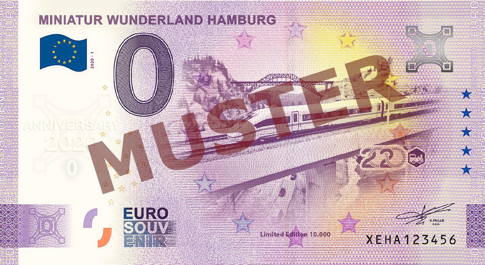 "Euro-Souvenir-Banknote Motif ""ICE4"" (2020-11.2) Anniversary-Edition"