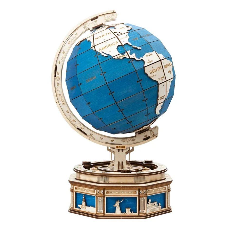 The Globe 3D Puzzle Wood - Robotime ROKR ST002