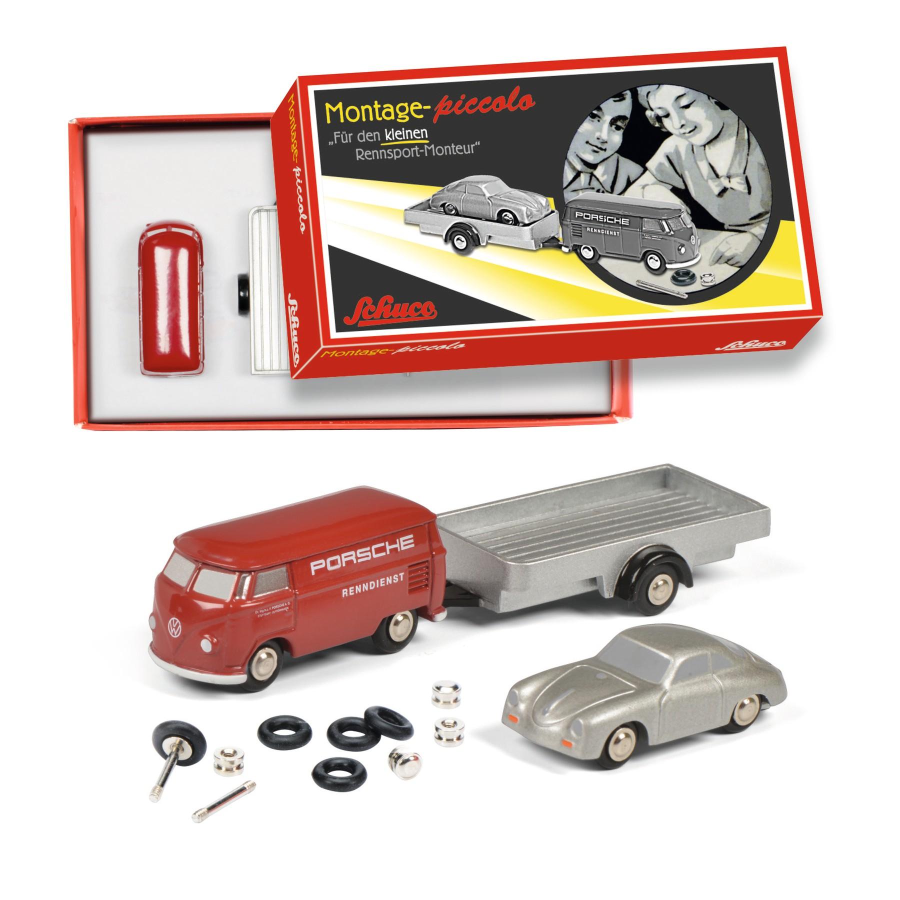 Schuco 450557900 Piccolo Montagekasten Porsche Renndienst