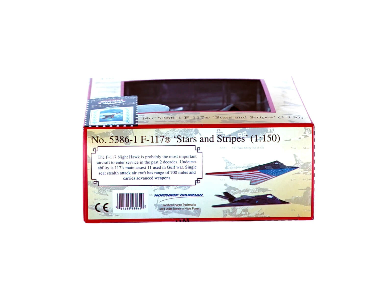 "Model Power MP 5386-1 F-117 Stealth ""Stars & Stripes"" 1:150"