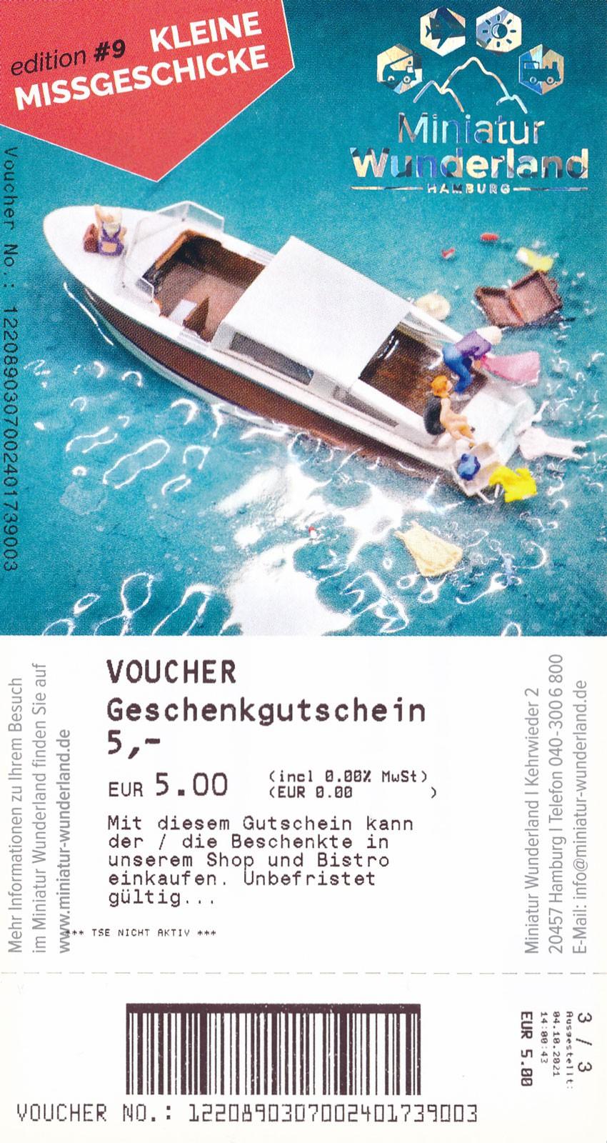5 € Gift Voucher for Shop or Bistro