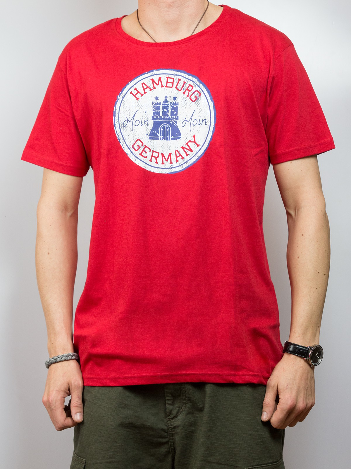"T-Shirt ""Hamburg Germany moin moin"""