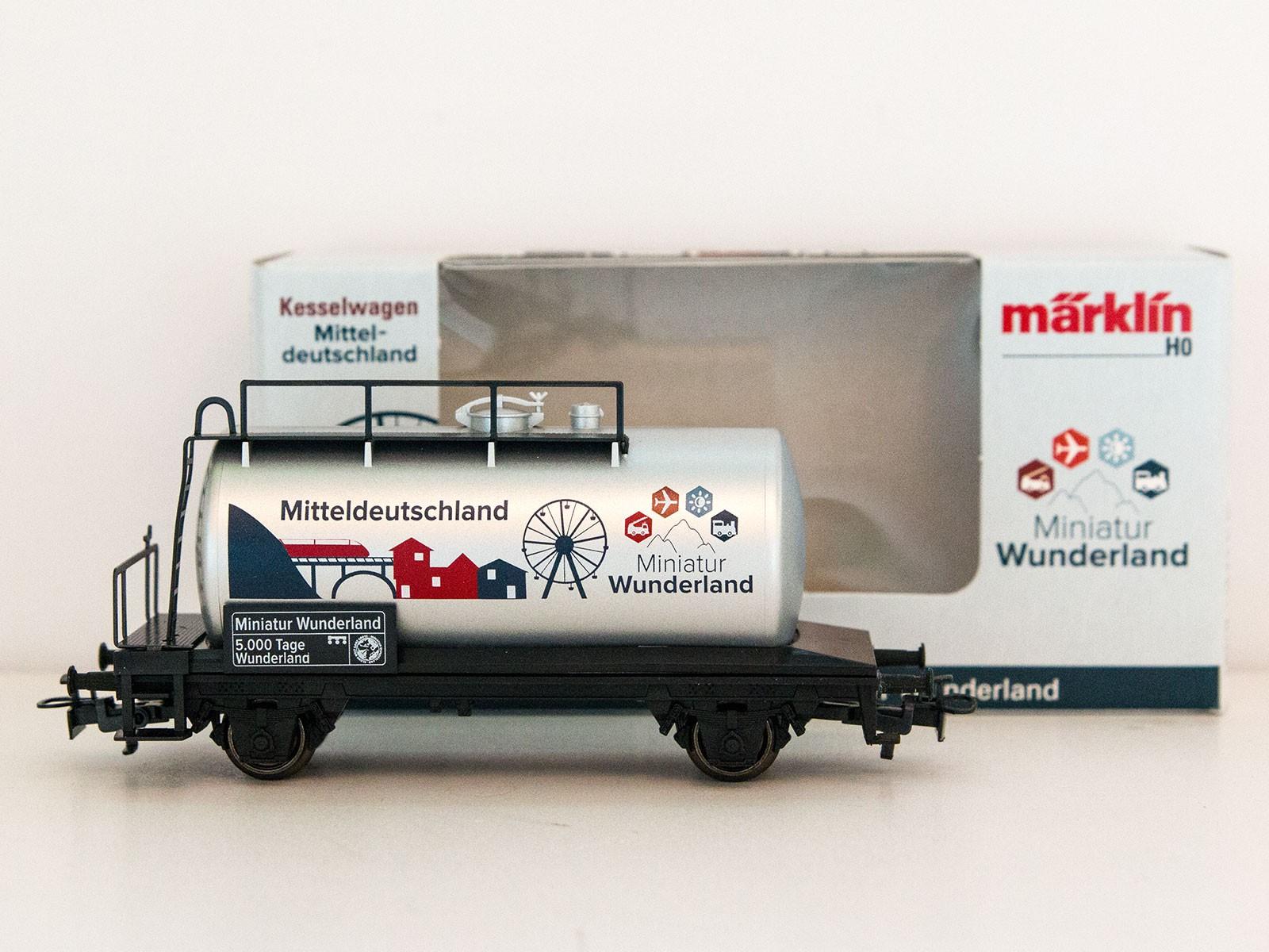 "Special Edition H0 Märklin 2015 tankwagon ""5000 Tage Wunderland - Mitteldeutschland"""