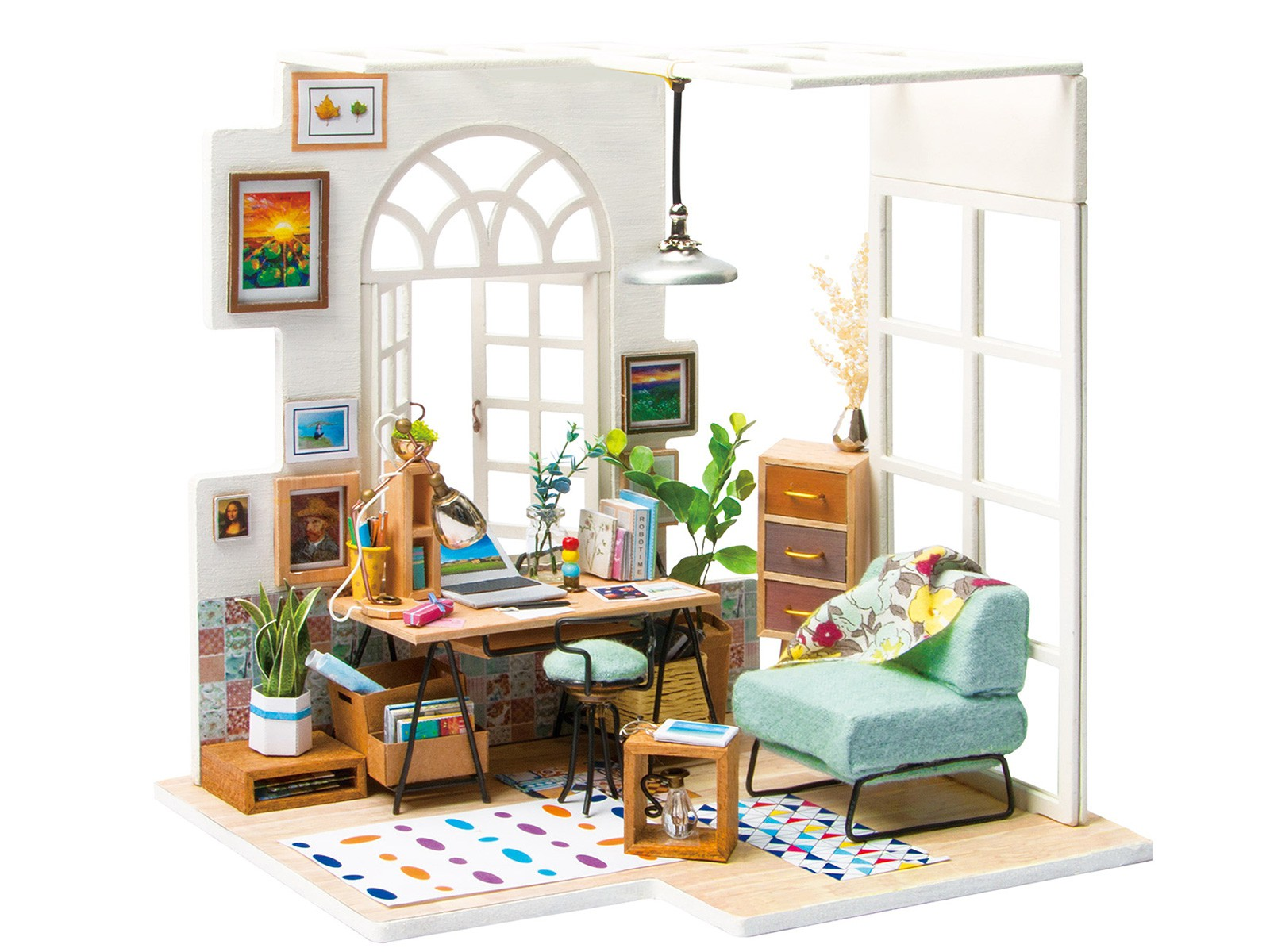 """3D Wooden Puzzle """"Soho Time"""" Flat"""