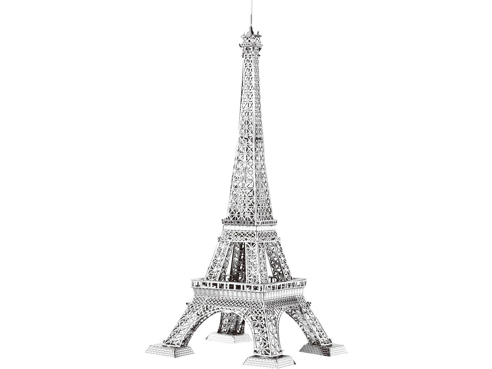 3D Metal Model Eiffel Tower