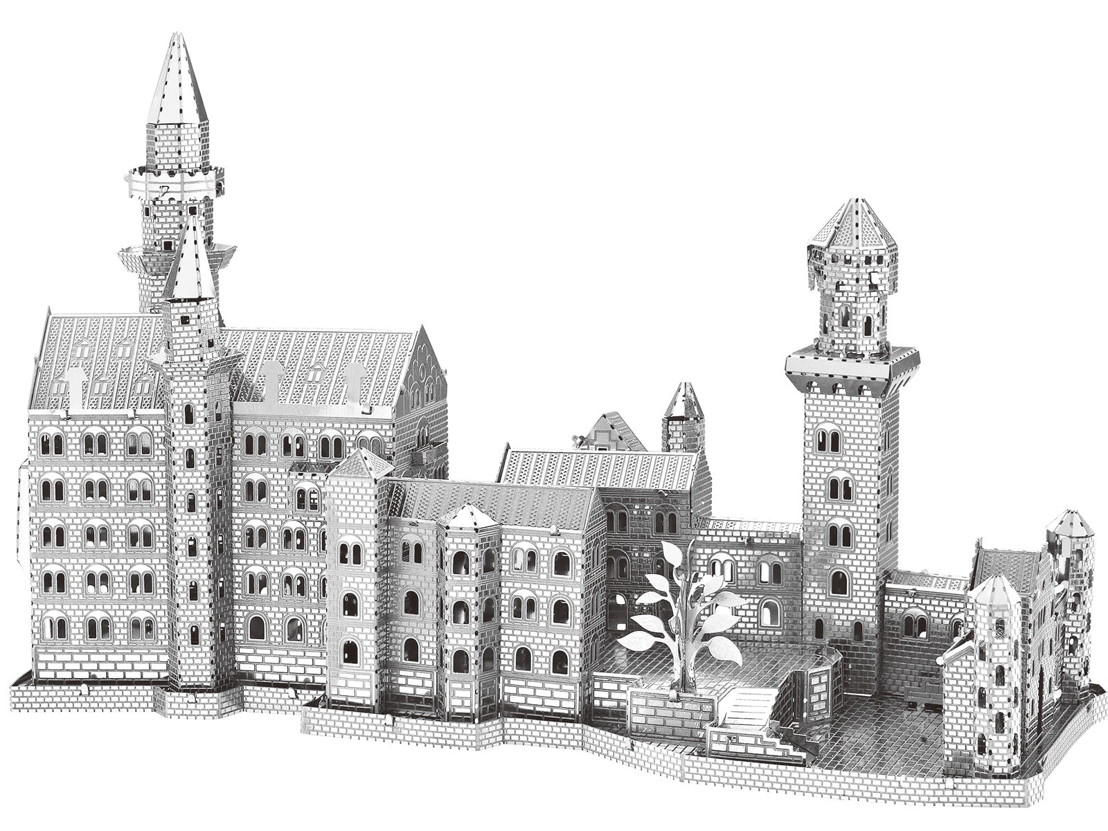 Mini 3D Metal Model Neuschwanstein Castle