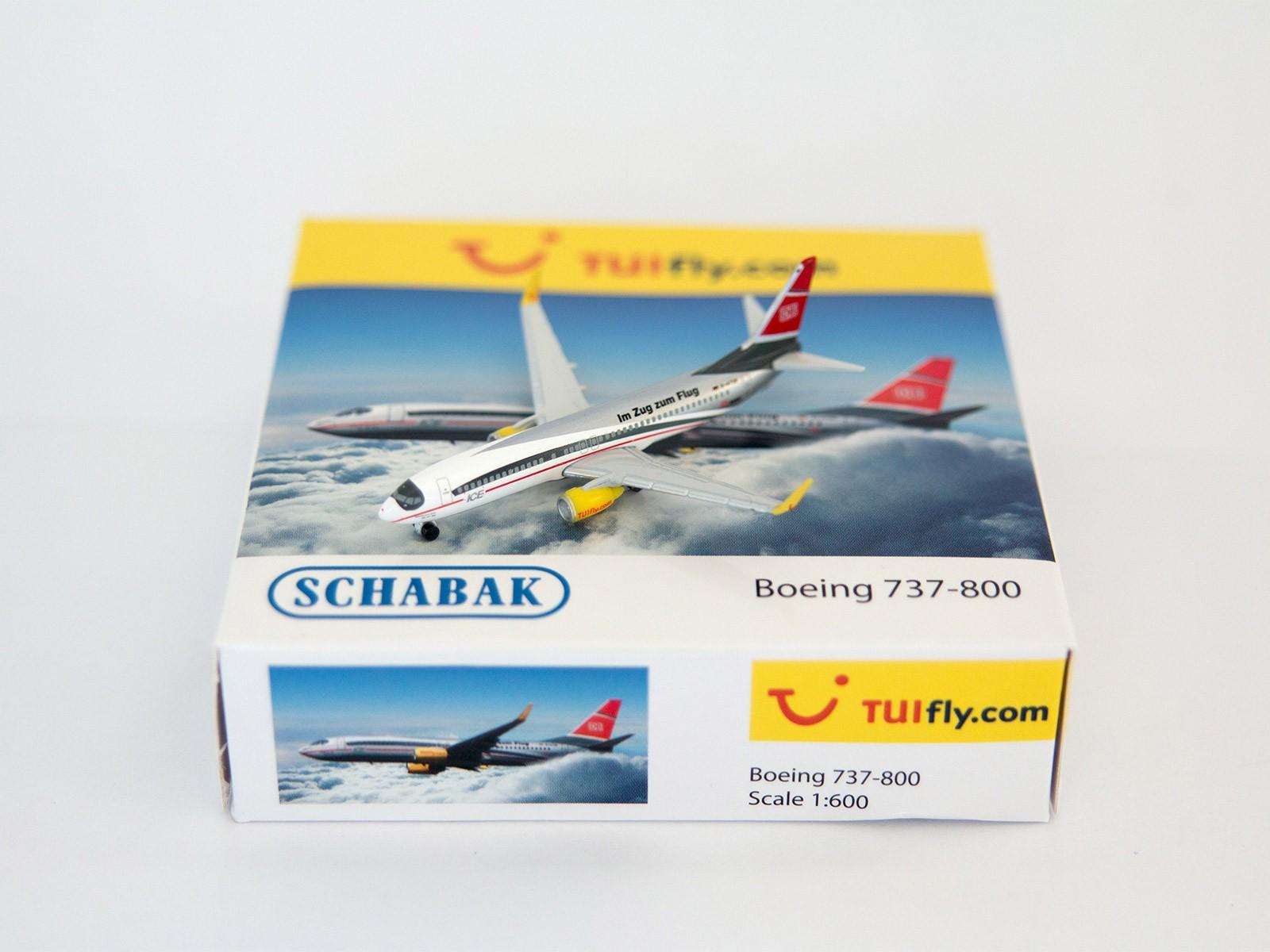 "Schuco/Schabak 31619 Boeing 737-800 TUIfly.com ""Zug zum Flug ICE"" 1:600"