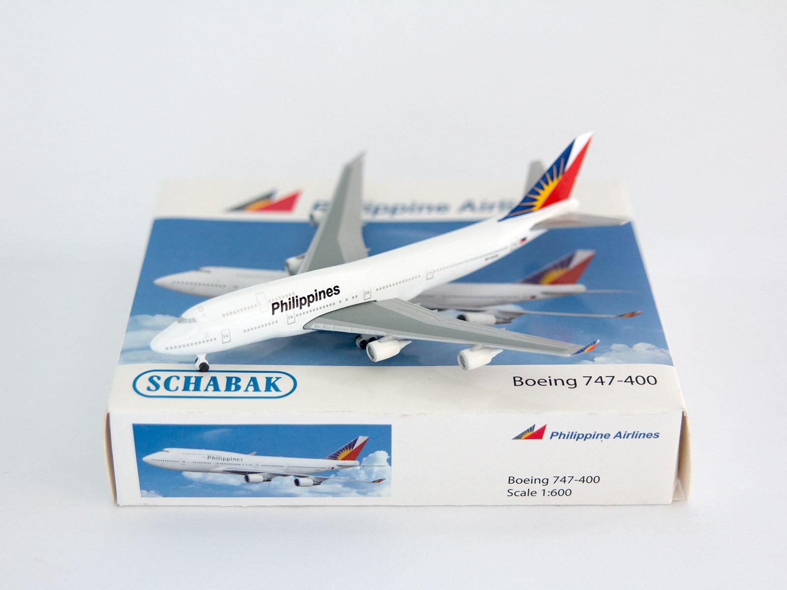 Schuco/Schabak 3551415 Boeing 747-400 Philippine Airlines1:600
