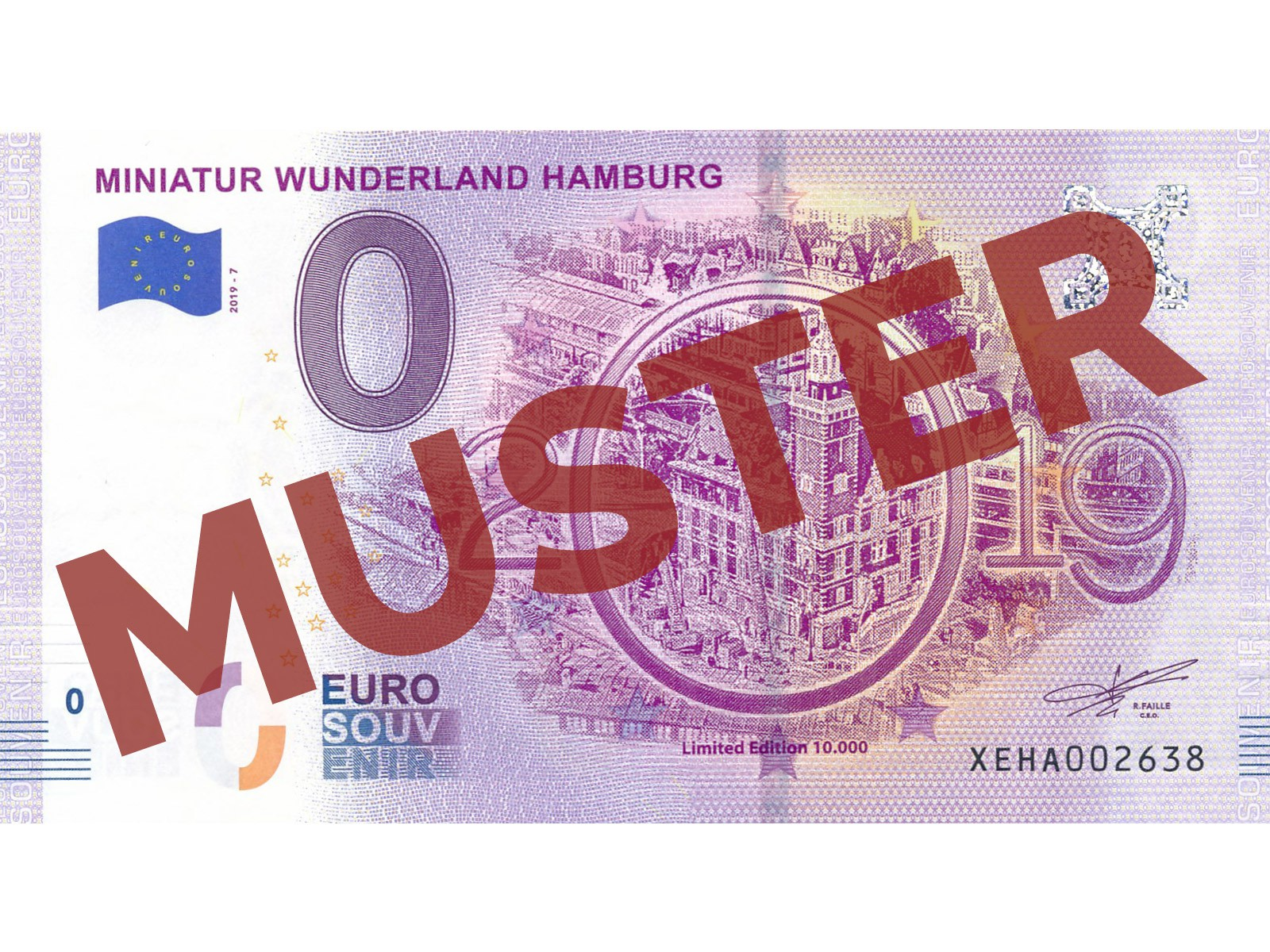 "Euro-Souvenir-Banknote Motif ""Burning Tax Office""  (2019-7)"