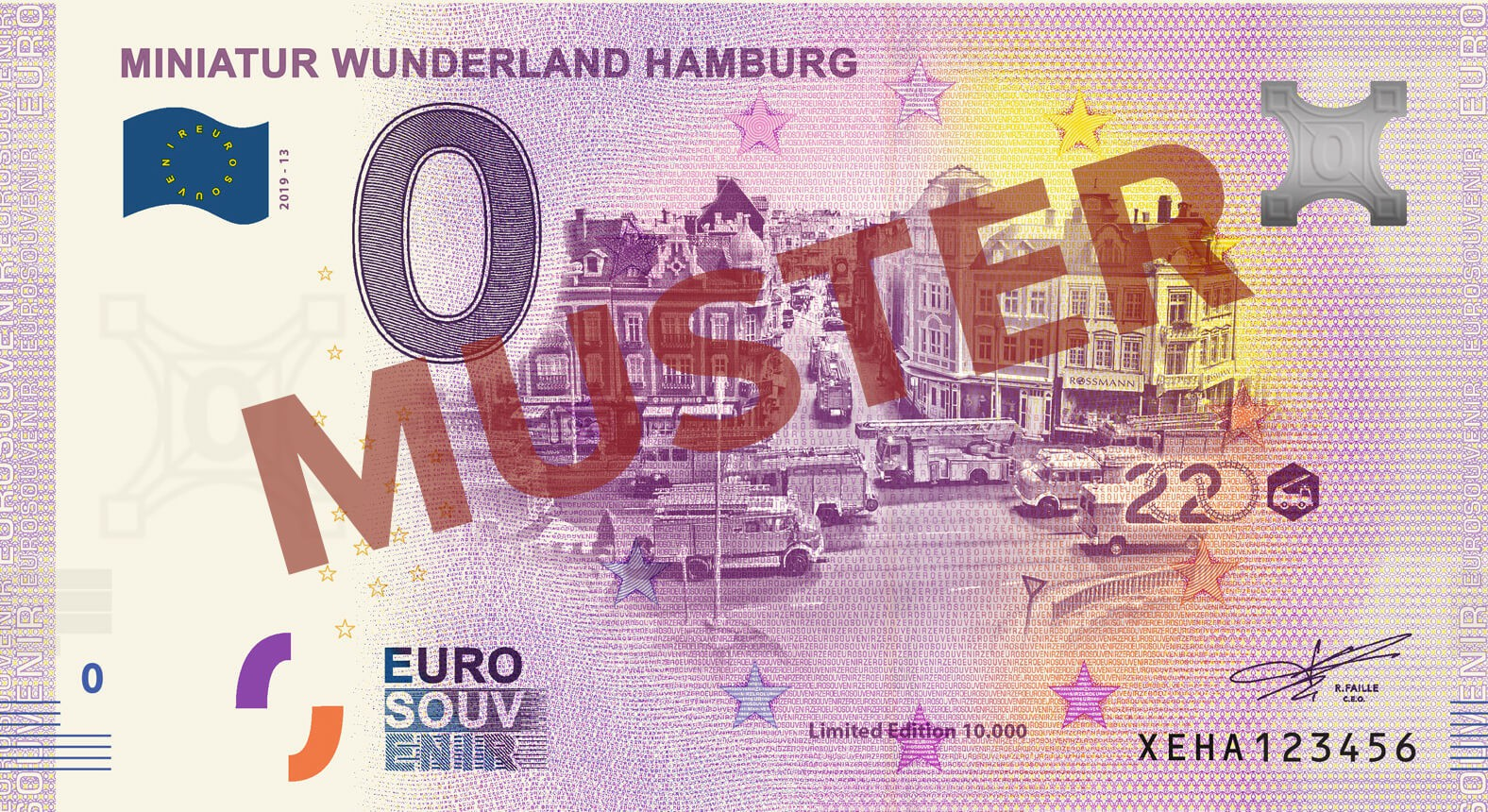 "Euro-Souvenir-Banknote Motif ""Fire Department"" (2020-13)"