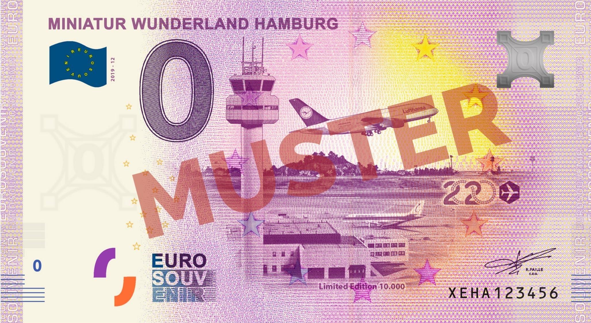 "Euro-Souvenir-Banknote Motif ""Flughafen"" (2020-12)"