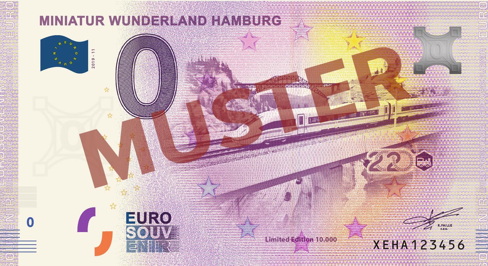 """Euro-Souvenir-Banknote Motif """"ICE4"""" (2020-11)"""