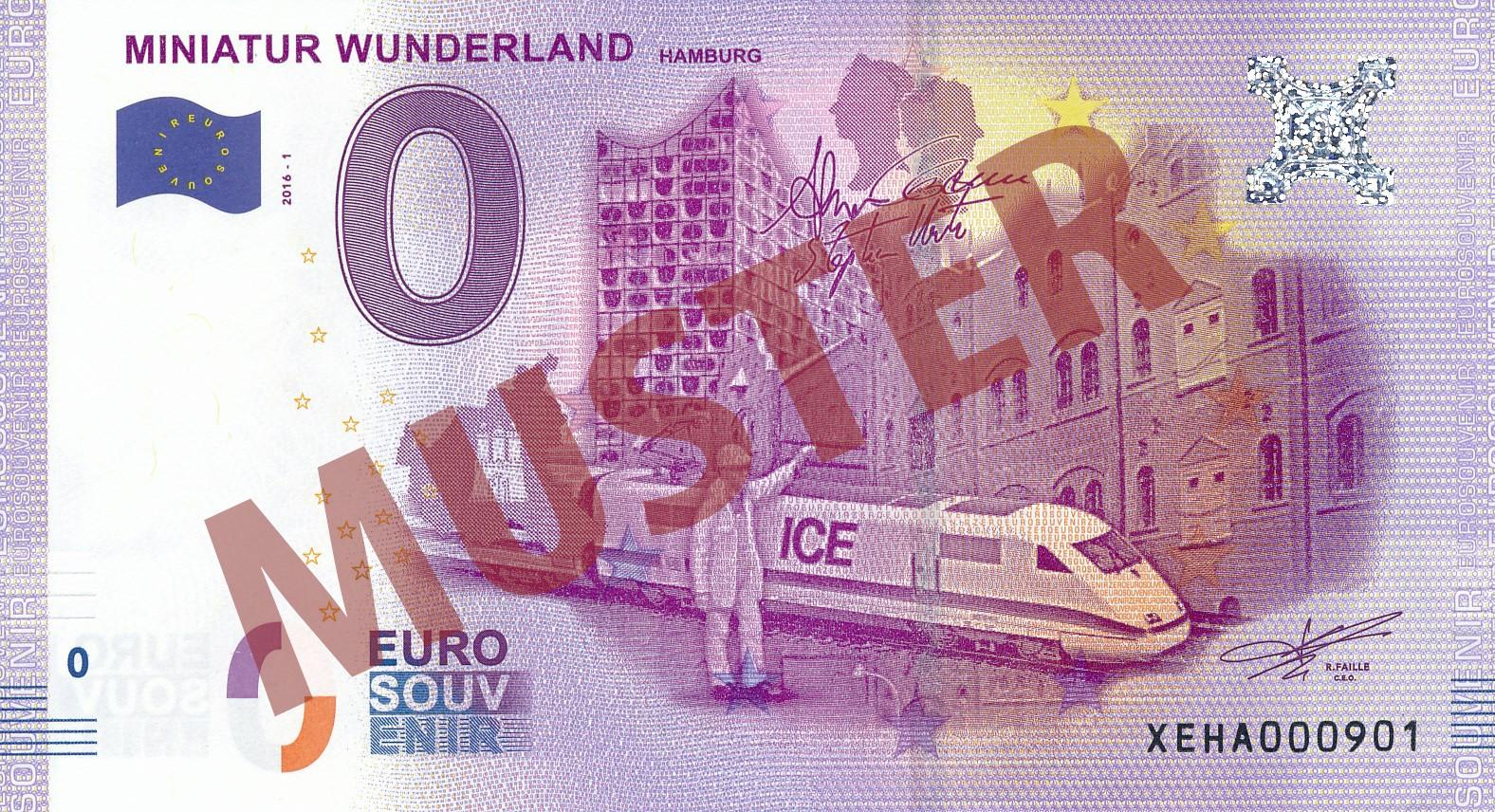 Miniatur Wunderland Euro-Souvenir-Banknote (1)