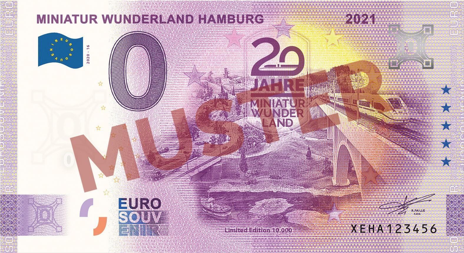 """Euro-Souvenir-Banknote Motif """"Maintalbrücke"""" (2021-16)"""