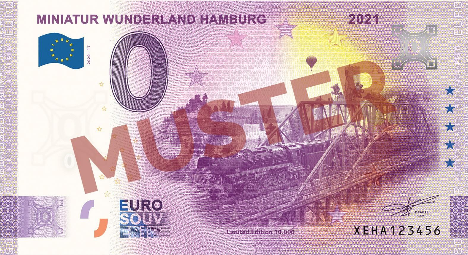 "Euro-Souvenir-Banknote Motif ""BR44 Langer Heinrich"" (2021-17)"