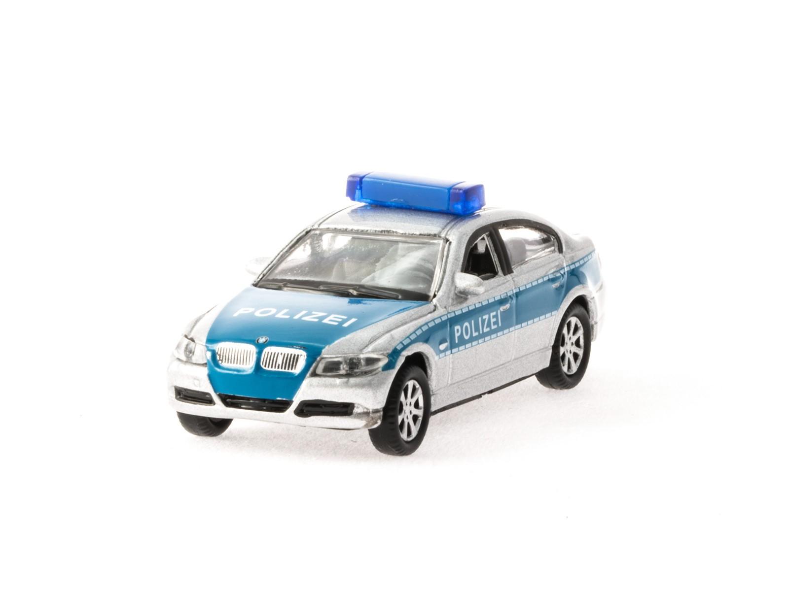 Welly 73113 H0 BWM 330i Polizei (blau)