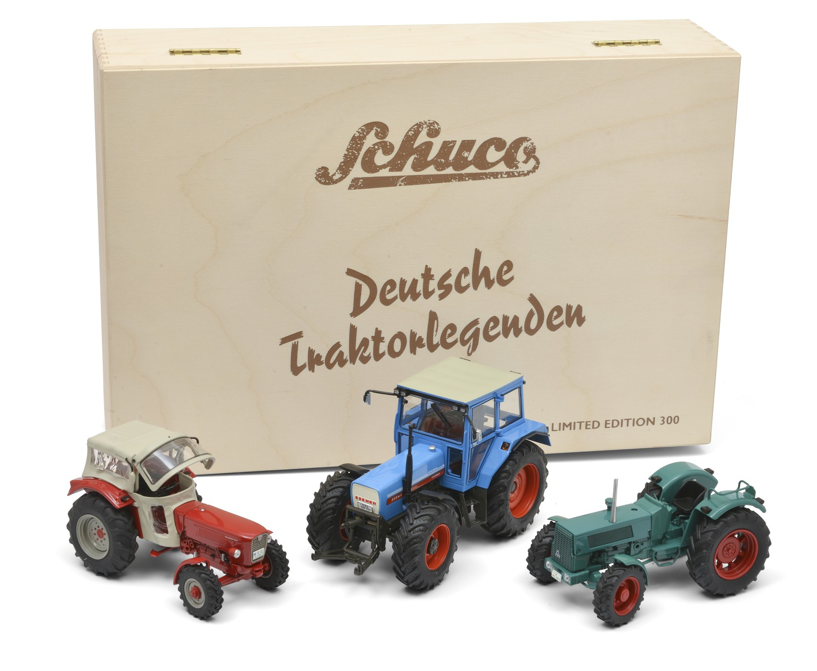Schuco 07658 Set Traktorlegenden in Holzkiste 1:32 - Limited Edition 300