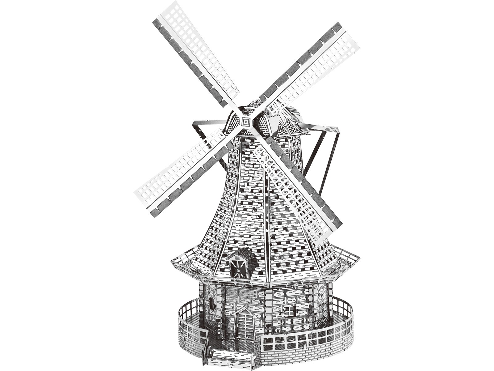 Mini 3D Metal Model Windmill
