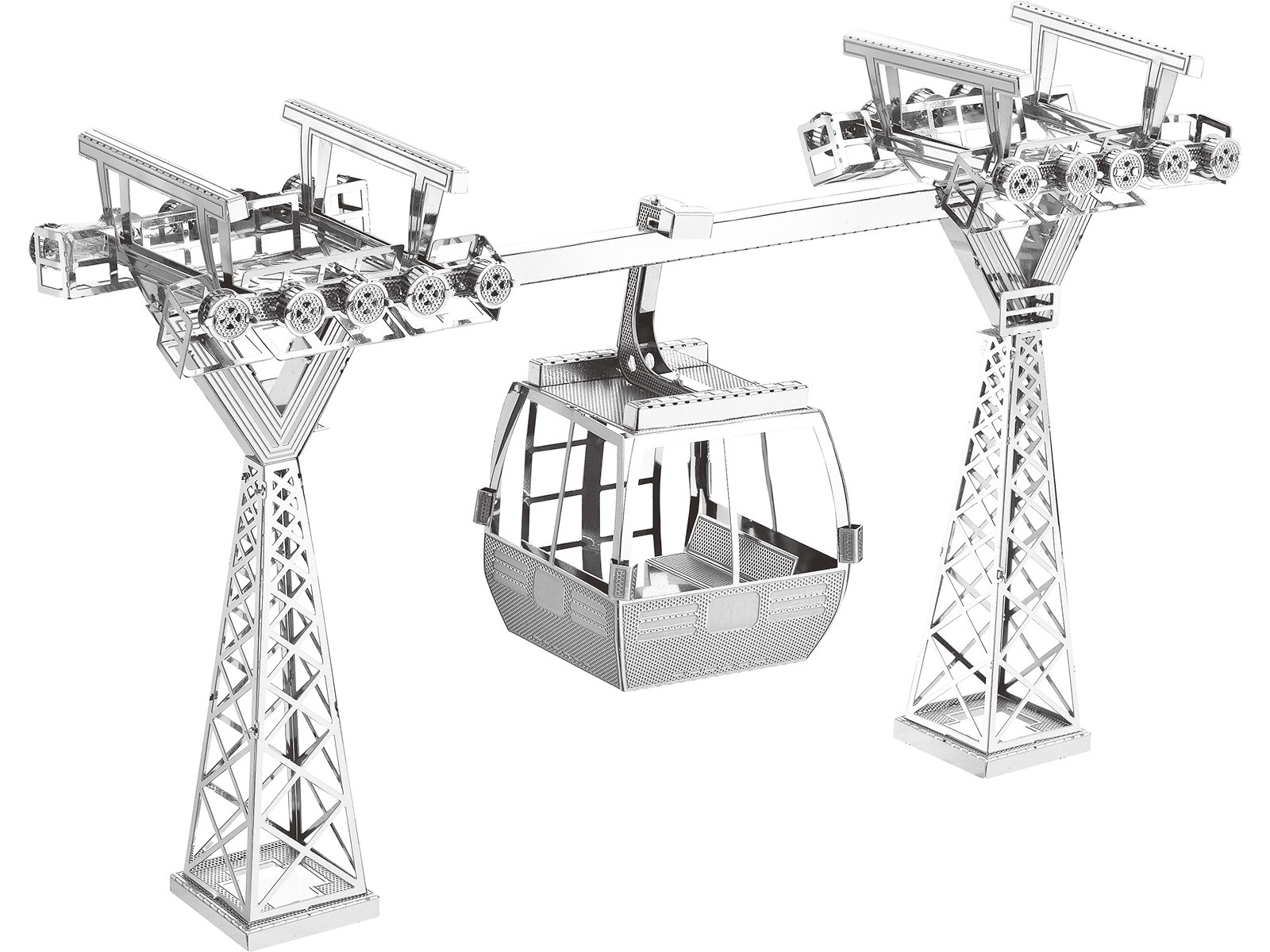 Mini 3D Metal Model Cable Car