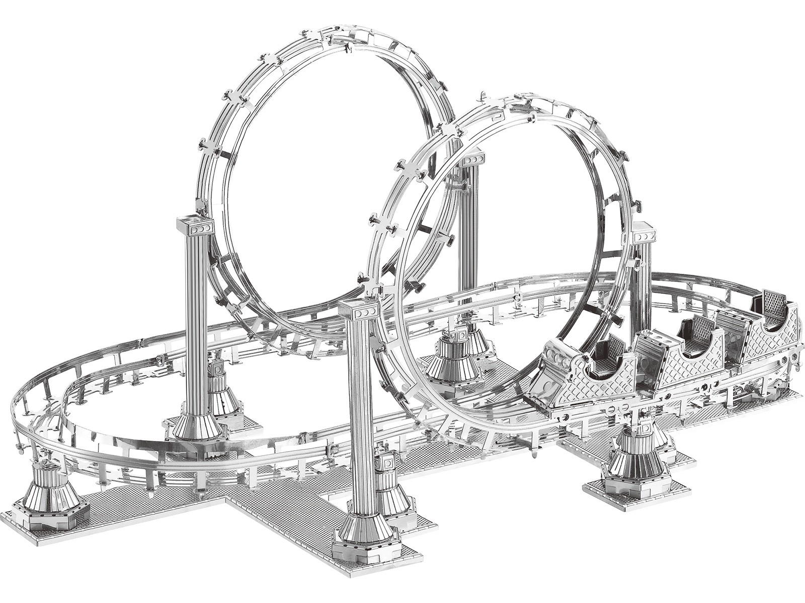 Mini 3D Metal Model Roller Coaster