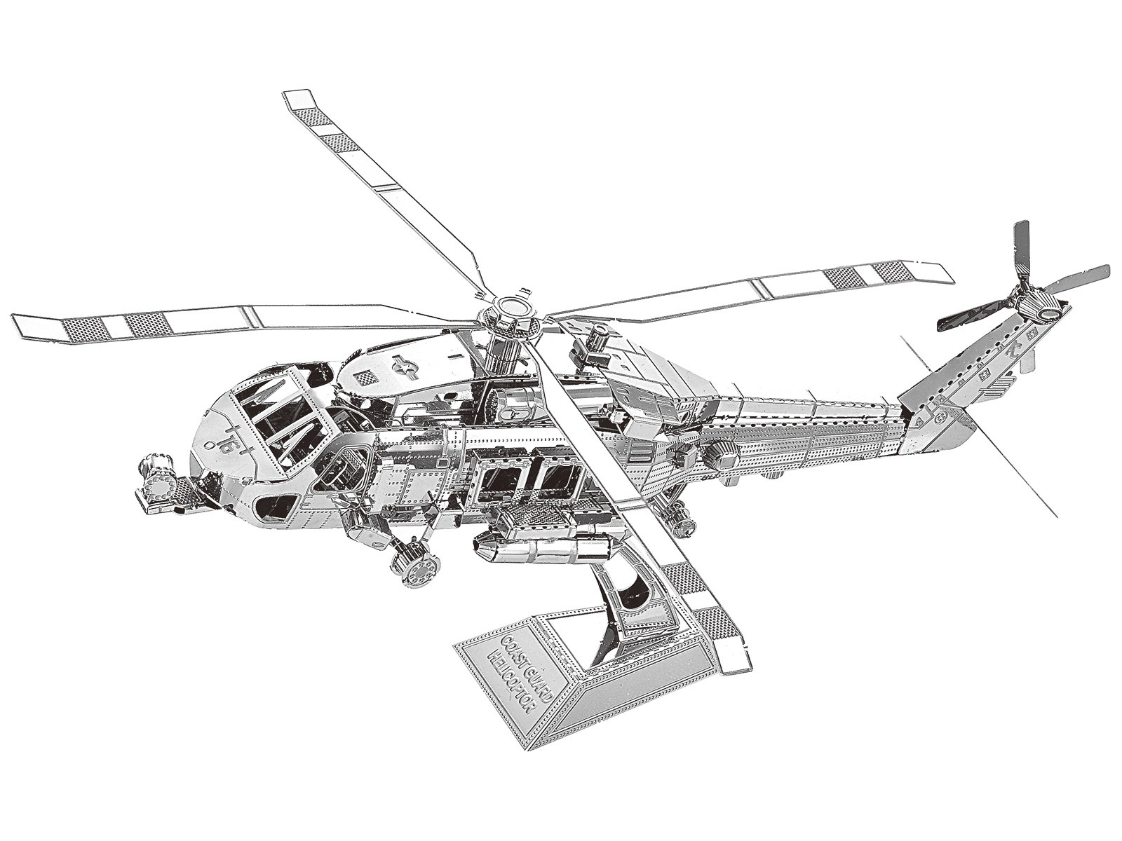 3D Metal Model Coast Guard Helicopter