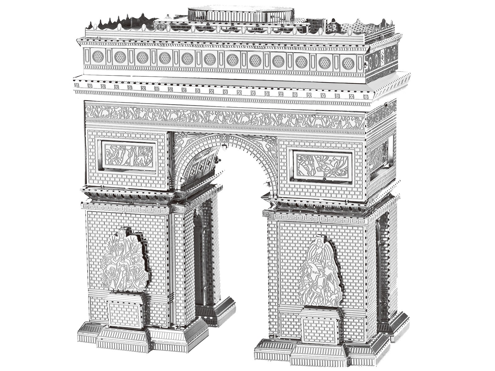 3D Metal Model Arc de Triomphe