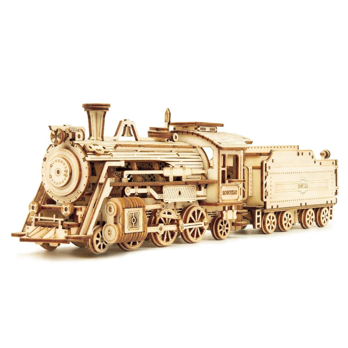 Prime Steam Express 3D Puzzle Wood - Robotime ROKR MC501