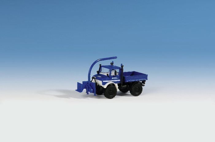 "Kibri 18466 H0 Unimog ""THW"" with front shredder"