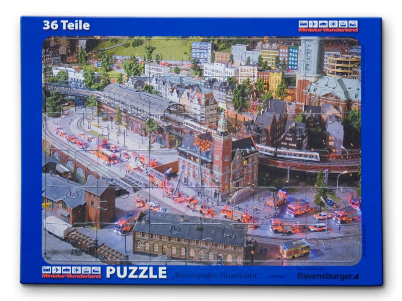 Miwula Puzzle 36 Teile Brennendes Finanzamt