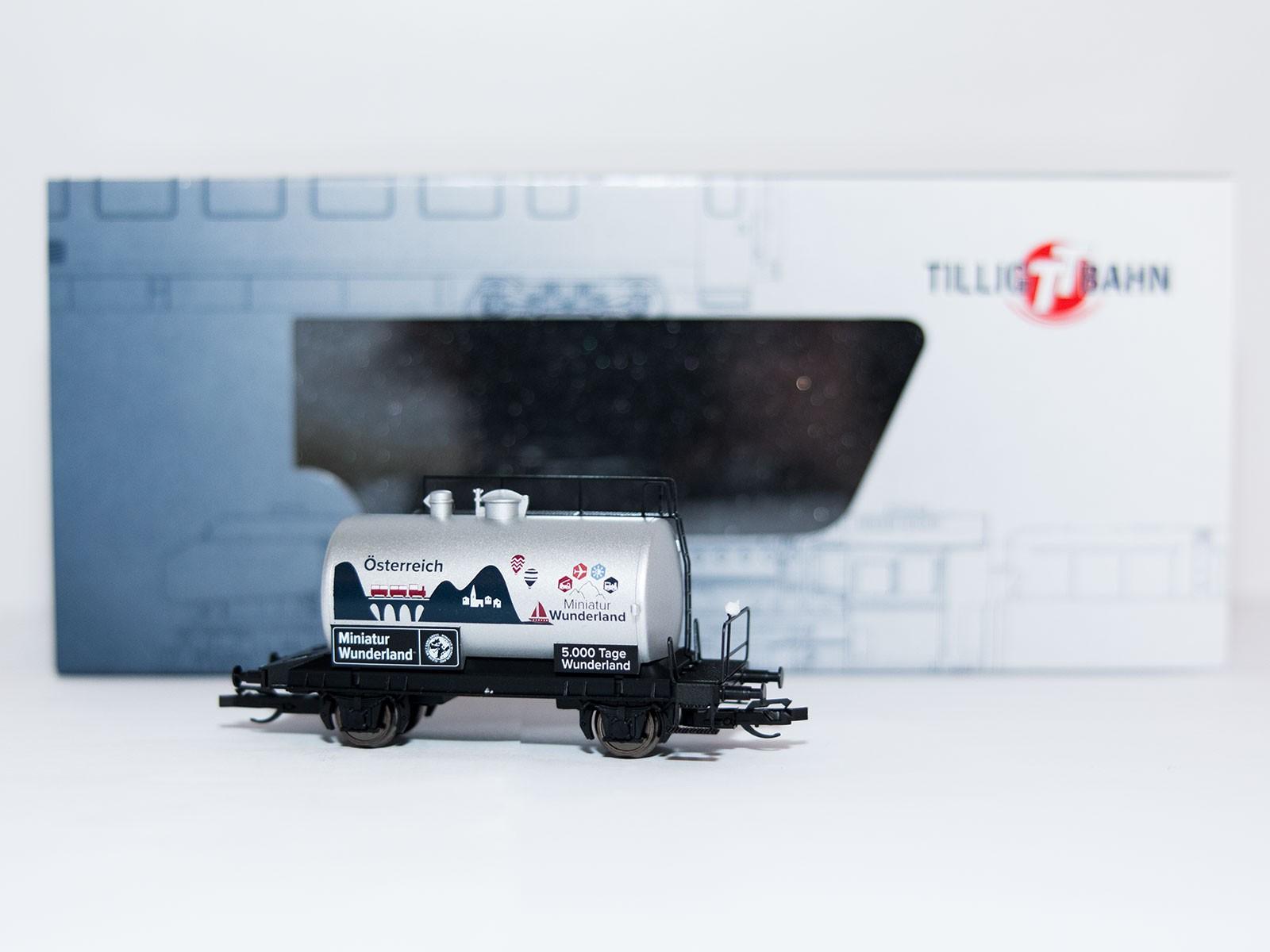 """Special edition TT Tillig 2015 tankwagon """"5000 Tage Wunderland - Österreich"""""""