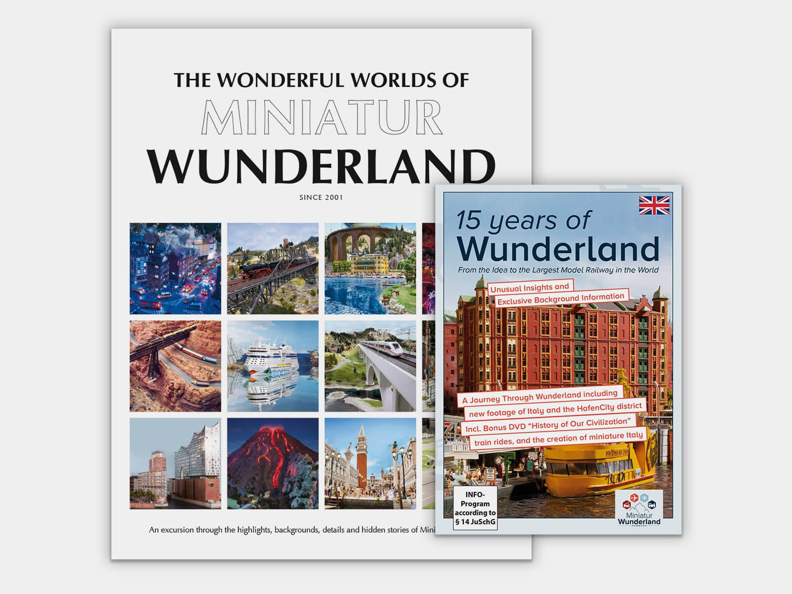 """Combo Offer """"The Wonderful Worlds of Miniatur Wunderland"""" Book & DVD """"15 Years Wunderland"""""""