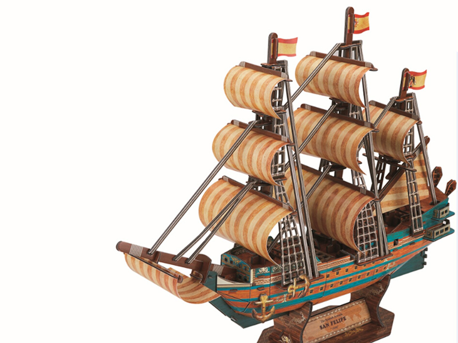 3D Sailing Ship San Felipe (large)