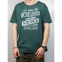T-Shirt - echte Modellbauer werden sieben...
