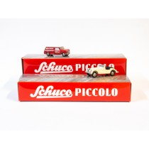 Schuco Piccolo 95510 1:90 Mini-Display mit  Austin Mini van & Morgan +8
