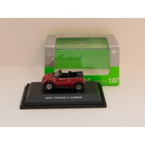 "Welly H0 73105 Mini Cooper S Cabrio ""rot"""
