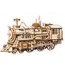 Locomotive - Wooden Model with Spring Motor