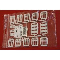 Kibri 210625 H0 window inserts white