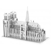 3D Metal Model Notre Dame Cathedral Paris