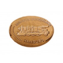 "Elongated Coin Motif ""Steamtrain"""