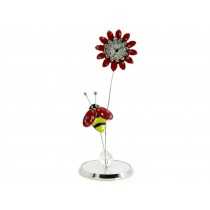 Flower Miniature Clock with Bee