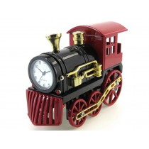 Steam Locomotive Miniature Clock (red)