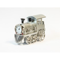 Steam Locomotive Miniature Clock (silver)