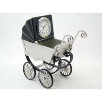 Baby Buggy Miniature Clock