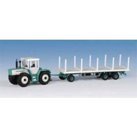 Kibri H0 12260 tractor with stake-trailer