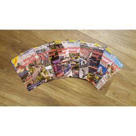"All 9 Eisenbahn-Kurier special magazines ""Miniatur Wunderland"",including one collective folder"