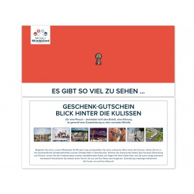 Gift Voucher Guided Tour 'Behind the Scenes' for Adults