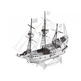 Mini 3D Metal Model Golden Hind Sailing Ship